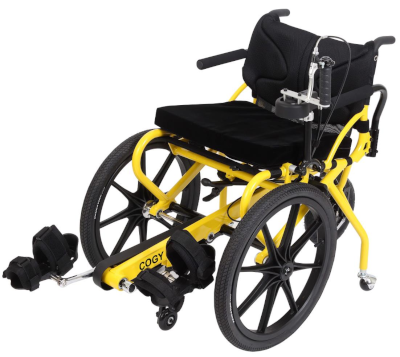 photo of pedal powered wheelchair