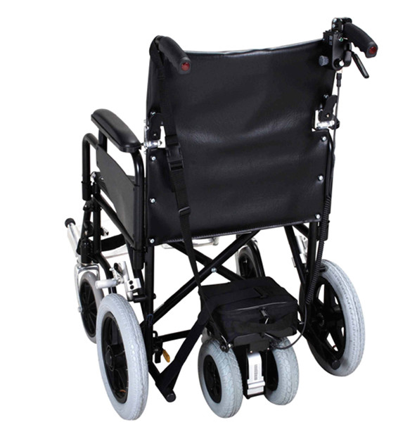 photo of a manual wheelchair with a power pack